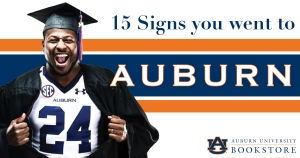 15 signs you went to AU graphic