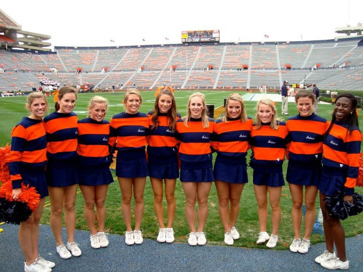 Image result for auburn university cheerleaders